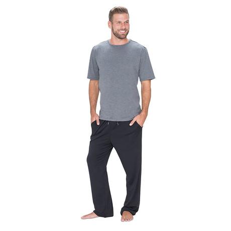 SHEEX® 828 Men's Short Sleeve Easy Tee // Heather Grey (L)