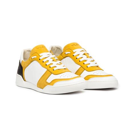 Positano Leather Shoe // Senape & White