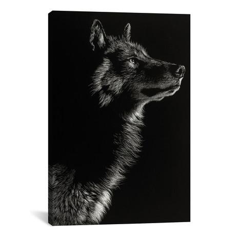 "Wolf II // Julie T. Chapman (26""W x 18""H x 0.75""D)"