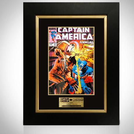 Captain America Vs Wolverine // Mike Zeck Signed Artwork // Custom Frame