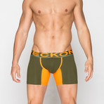 Boxer Briefs // Green + Orange (XL)