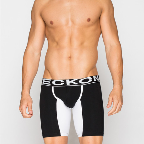 Long Boxers // Black + White (S)