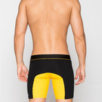 Long Boxers // Black + Yellow (XL)