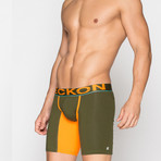 Long Boxers // Green + Orange (S)