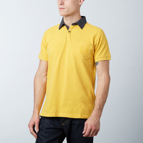 men 39 s polo shirt yellow pink s jean louis. Black Bedroom Furniture Sets. Home Design Ideas