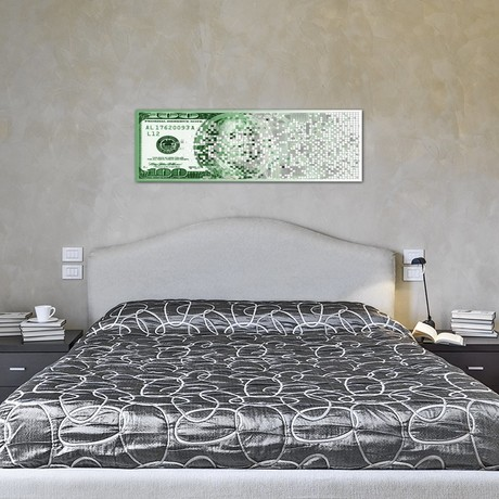 One Hundred Dollar Bill Turning Digital // Panoramic Images