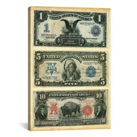 "Antique Currency VI // Vision Studio (18""W x 26""H x 0.75""D)"