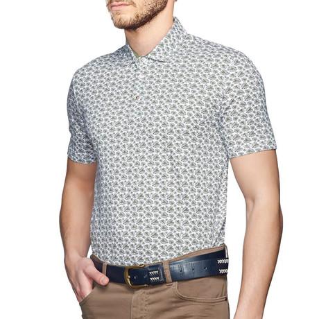 Polo T-Shirt // Green + White