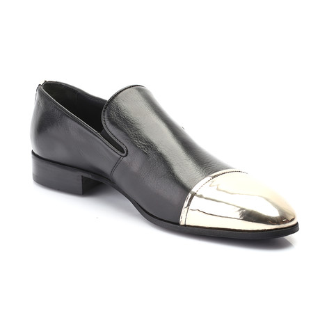 Peter Loafer // Black + Gold (Euro: 39)