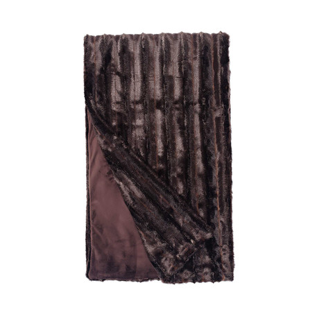Signature Faux Fur Throw // Carved Sable
