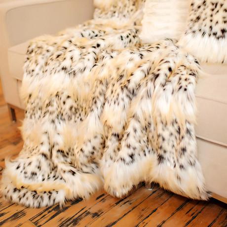 Signature Faux Fur Throw // Bobcat