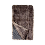 Limited Edition Faux Fur Throw // Grey Wolf