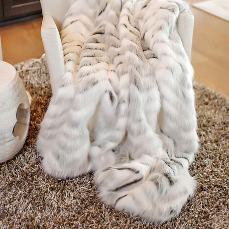 Limited Edition Faux Fur Throw // Crystal Fox