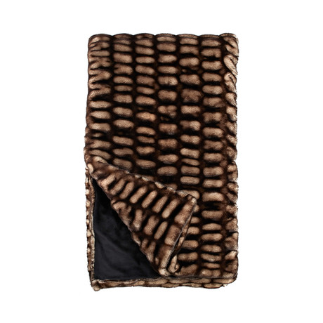Couture Faux Fur Throw // Shadow Mink