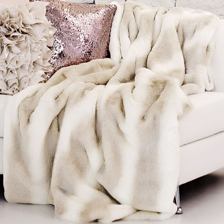 Couture Faux Fur Throw // Iced Mink