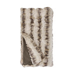 Couture Faux Fur Throw // Truffle Chinchilla