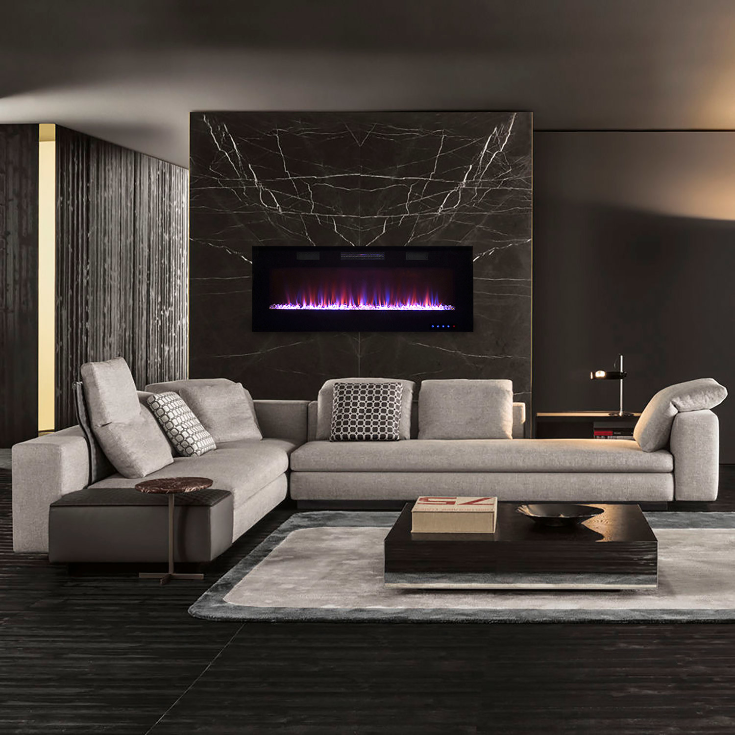 Front Venting Recessable Wall Mount Electric Fireplaces