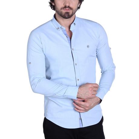 Zander Button-Up Shirt // Ice Blue