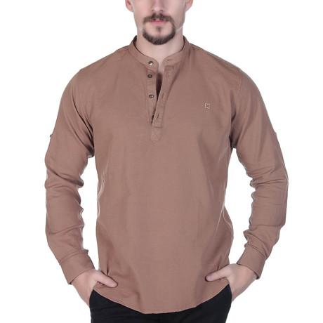 Zane Button-Up Shirt // Brown