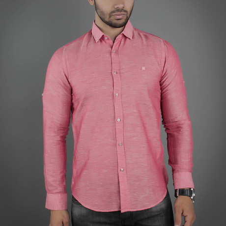 Nixon Button-Up Shirt // Pink