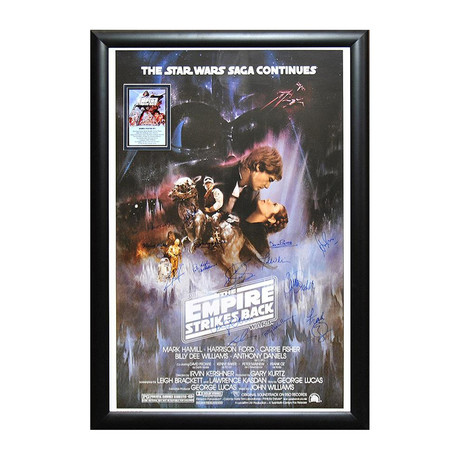 Signed + Framed Poster // Star Wars Episode V: The Empire Strikes Back