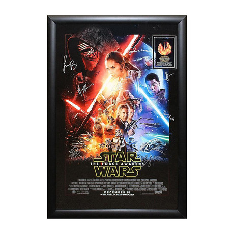 Signed Movie Poster // The Force Awakens