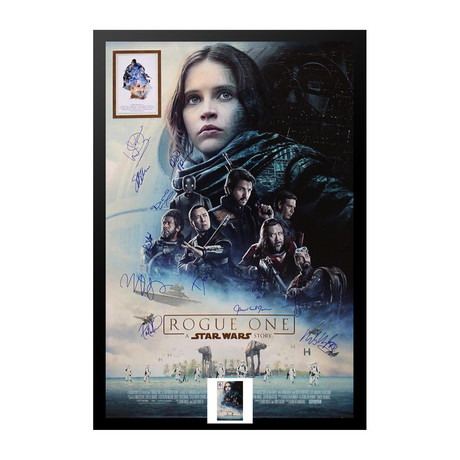 Signed Movie Poster // Rogue One // Poster II