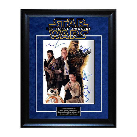 Signed + Framed Artist Series // The Force Awakens