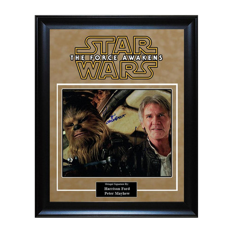 Signed Artist Series // Han Solo + Chewbacca I