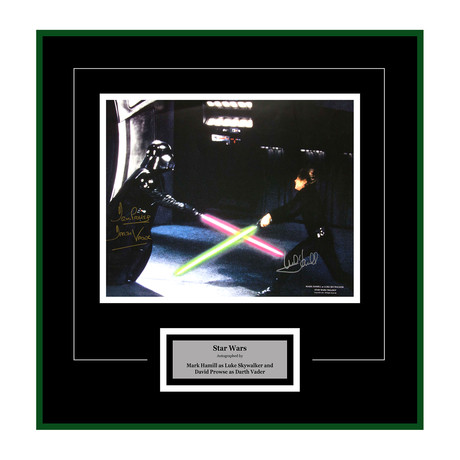 Signed Artist Series // Luke Skywalker + Darth Vader