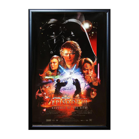 Autographed + Framed Poster // Star Wars Episode III
