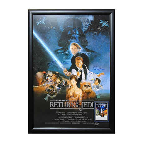 Autographed + Framed Poster // Star Wars Episode VI