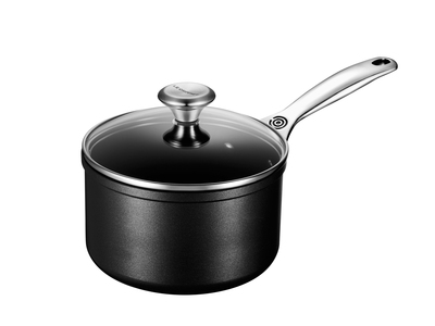 Photo of Le Creuset Toughened Nonstick Cookware Toughened Nonstick Saucepan + Glass Lid (2 qt) by Touch Of Modern