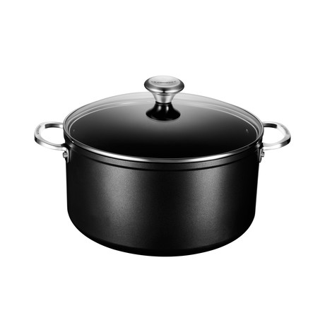 Toughened Nonstick Stockpot + Glass Lid (6.33 qt)
