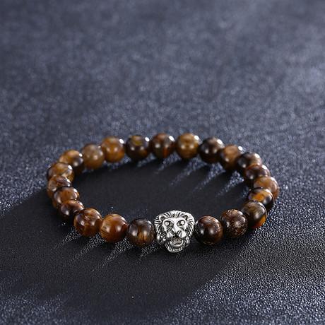 Filigree Lion Chakra Bracelet