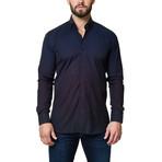 Luxor Stripe Degraded Dress Shirt // Blue (XS)