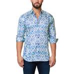 Luxor Desigual Dress Shirt // Blue Green (XS)