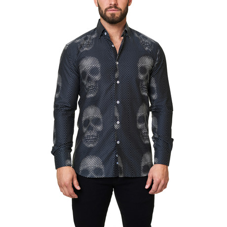 Luxor Funky Skull Dress Shirt // Black (S)