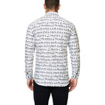 Luxor Funky Skeleton Dress Shirt // White (XS)