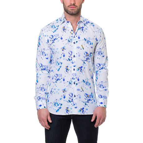 Luxor Peacock Dress Shirt // White