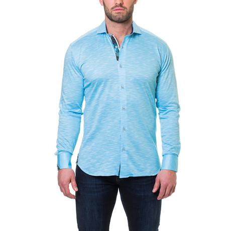 Wall Street Jersey Dress Shirt // Blue