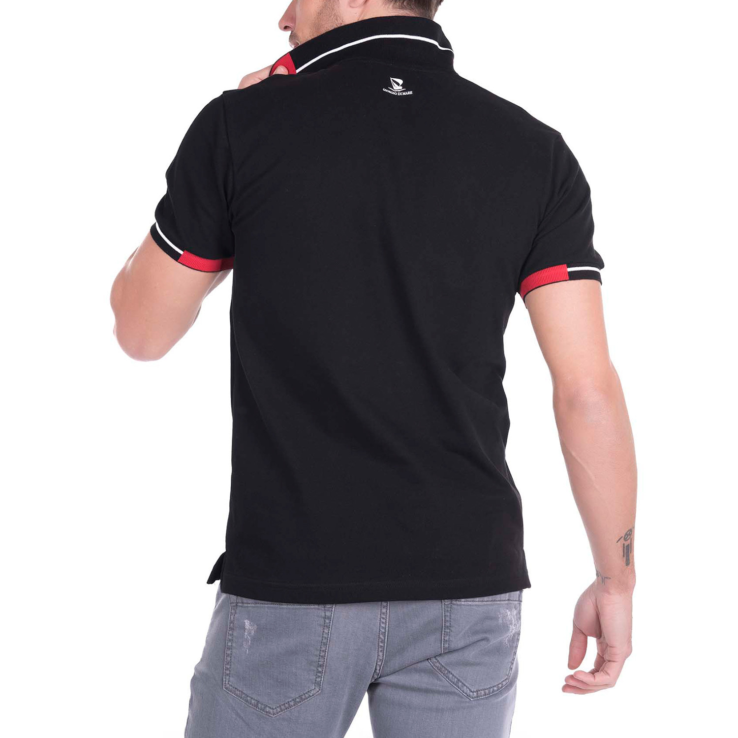 Smith Polo Shirt Black S Giorgio Di Mare Touch Of Modern