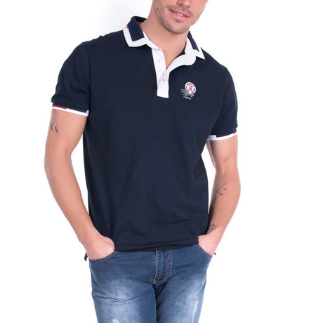 Jett Polo Short Sleeve Shirt // Navy
