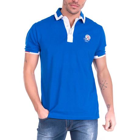 Nixon Polo Short Sleeve Shirt // Sax