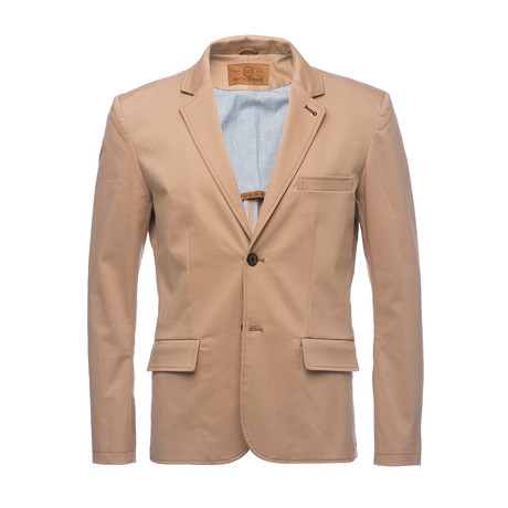 Kurt Notched Lapel Stretch Blazer // Tan (XS)