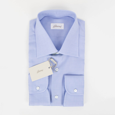 Cotton Slim Fit Dress Shirt // Light Blue (15.75)