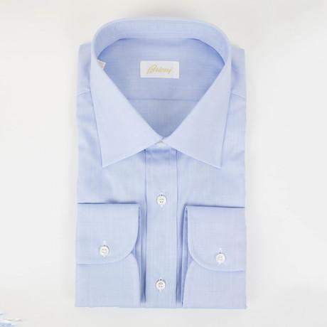 Solid Cotton Slim Fit Dress Shirt // Light Blue