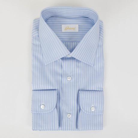 Bengal Striped Cotton Slim Fit Dress Shirt // Blue (15.75)