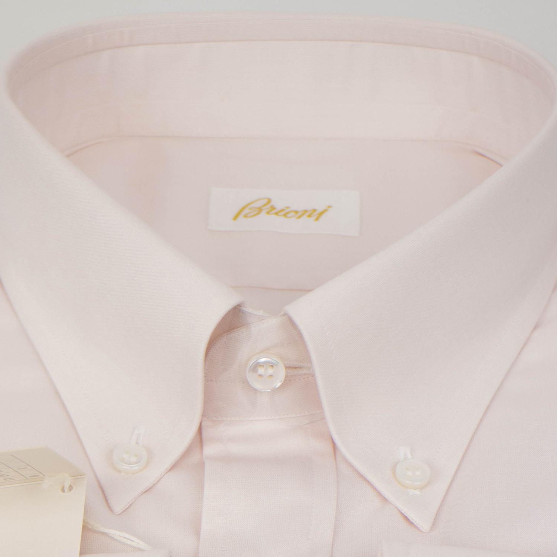 Cotton Slim Fit Dress Shirt Light Pink 155r Luxury Fashion