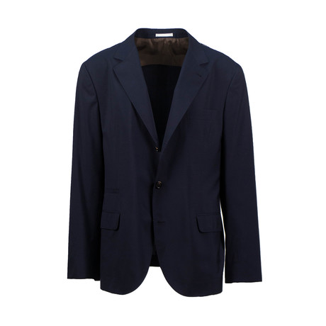Wool Blend Unstructured Sport Coat // Blue (Euro: 44)